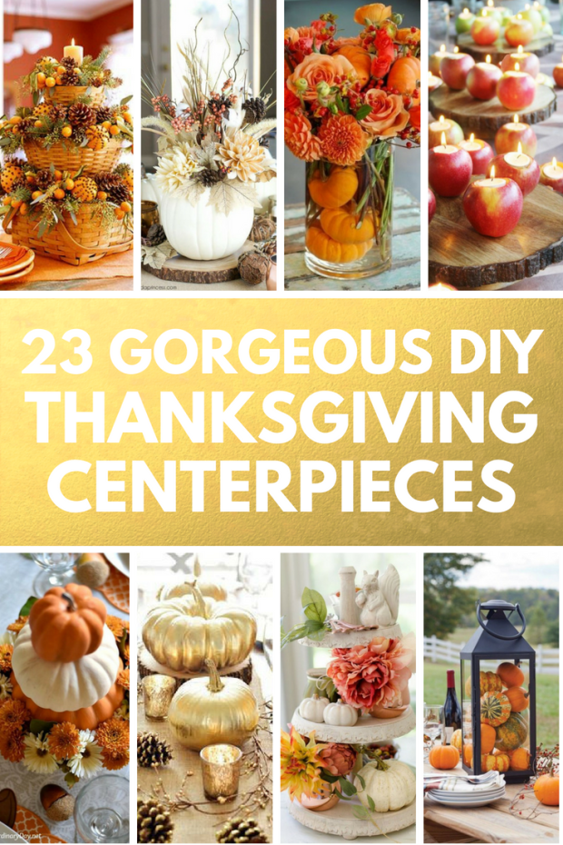 23 Budget Friendly Thanksgiving Centerpieces You Can Make Yourself!