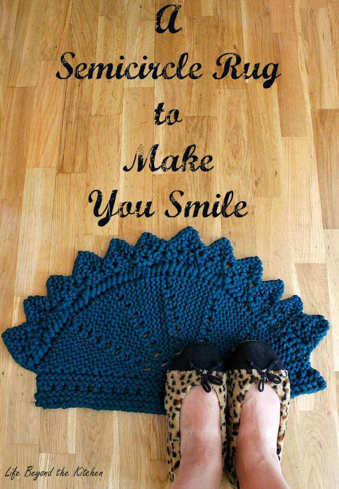 Knitted Rag Rug ~ Life Beyond The Kitchen