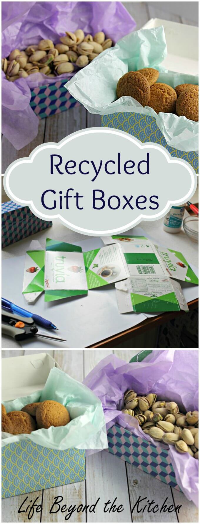 Recycled Gift Boxes ~ Creative Crafter Bloggers Group Challenge #ccgb ~ Life Beyond the Kitchen