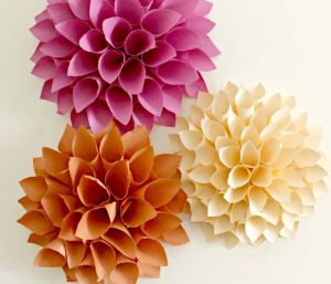 Decorate Your Walls For Fall With Paper Blossoms