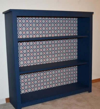 Fabric Bookcase from Find It, Fix It, Build It ~ Featured Project at Creatively Crafty ~ Life Beyond the Kitchen