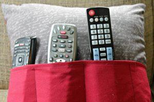 Easy Remote Control Pillow #CraftyDestash