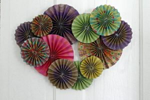 Whimsical Paper Flowers Wall Hanging (#ccbg)