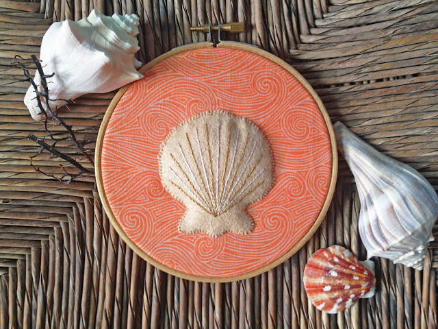 Seashell Picture by KBB Crafts and Stitches ~ Featured Post at Creatively Crafty #ccbg ~ Life Beyond the Kitchen