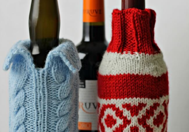 Knitted Wine Bottle Sweaters ~ Free Patterns ~ Life Beyond the Kitchen