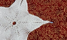 Knitted Star Motif for Holiday Decor