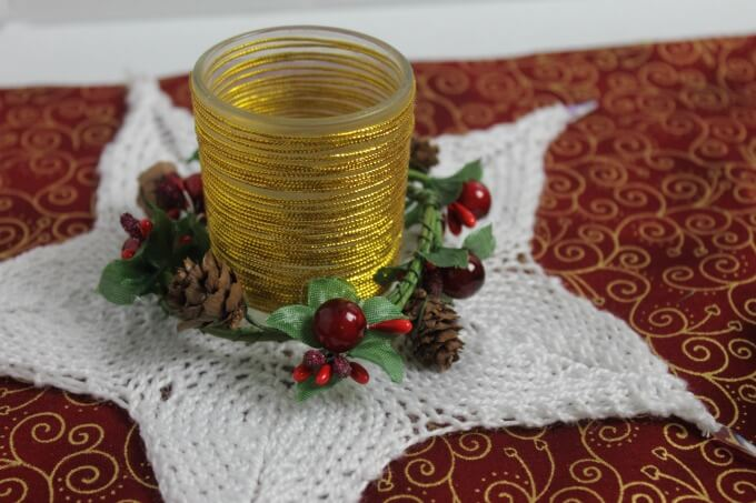 Pretty Knitted Star for Your Holiday Decor ~ Life Beyond the Kitchen