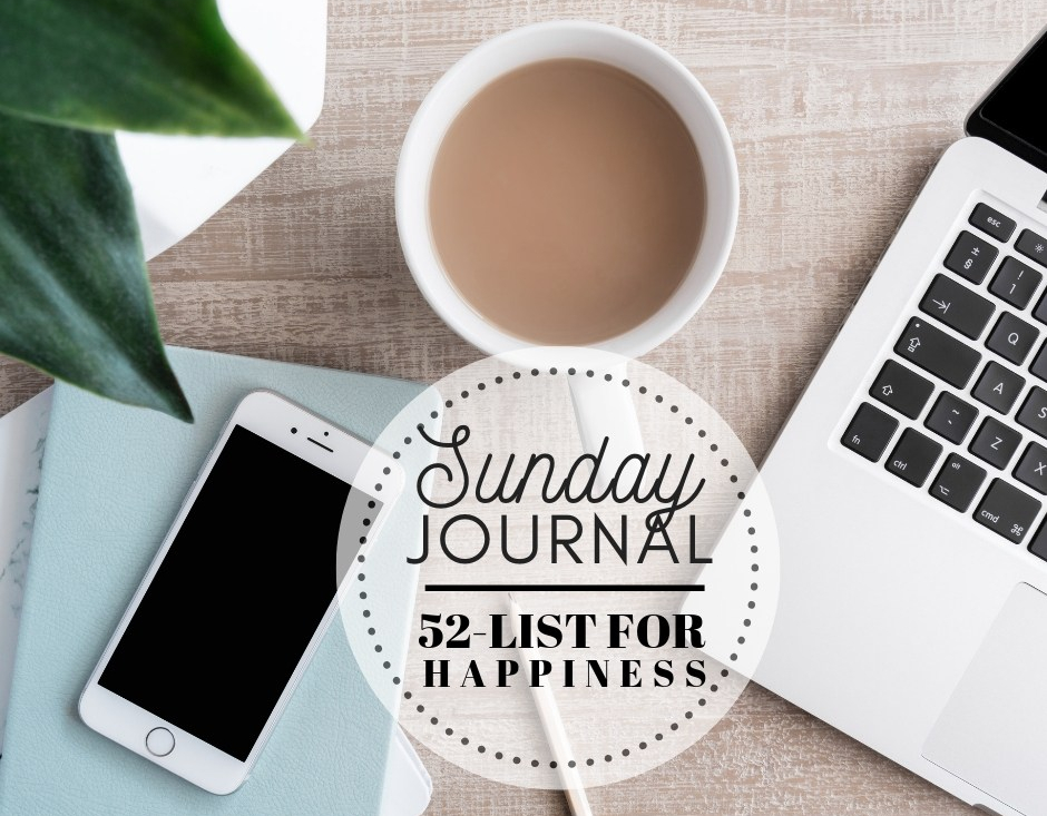 Sunday Journal: Chit-Chat … 52 List for Happiness [#50-52]