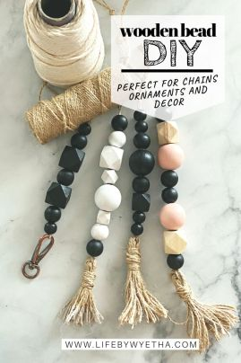 wood bead PIN