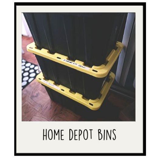 home depot bins-pack
