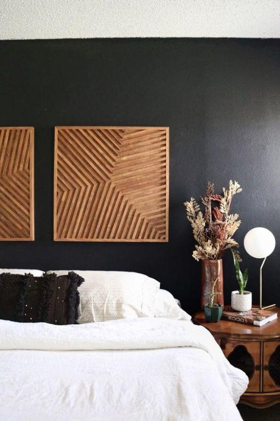 black matte wall