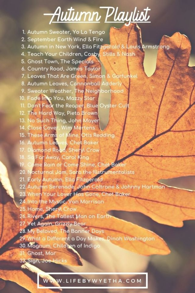 Fall Playlist 2020