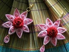 star-earrings-quilling