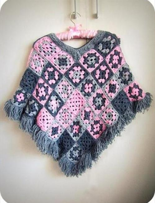 easy-poncho-crochet