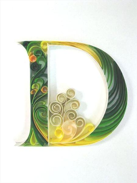paper-quilling-letter-D Quilling Letter Templates Designs on