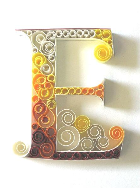 Paper Quilling Letter Patterns