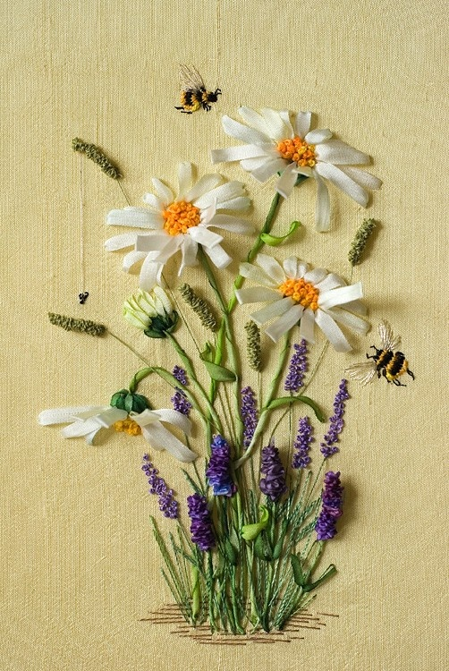Silk ribbon flower embroidery designs for beginners life