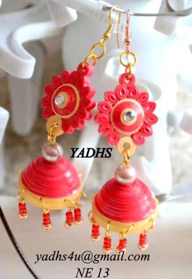 quilled-jhumkas