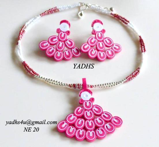 Beautiful Paper Quilling Jewelry By Yadhs