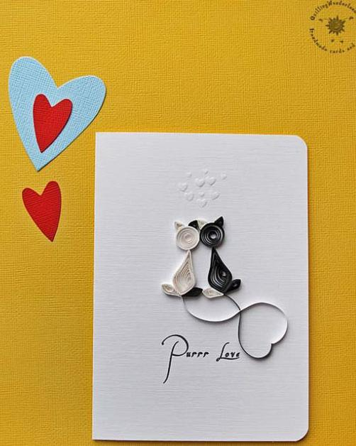 quilling cards love