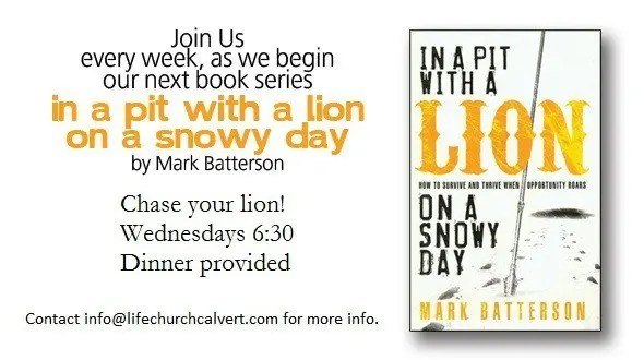 In a Pit with a Lion on a Snowy Day - Life Group Series