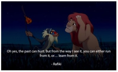 Image result for lion king the past can hurt quote