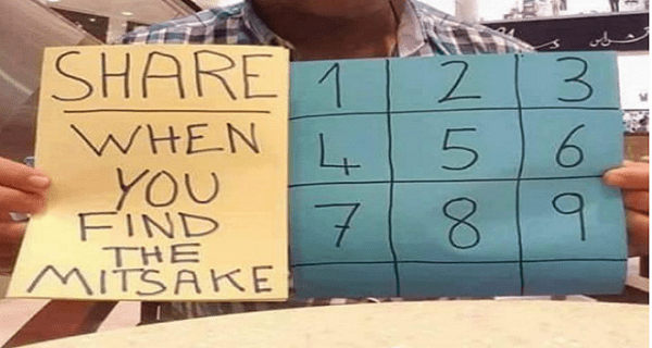 Most Of The People Could Not Find The Mistake