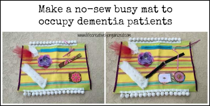 A no-sew mat to keep dementia patients busy.