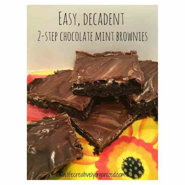 2-step decadent chocolate mint brownies - these easy and delicious brownies will wow your guests!