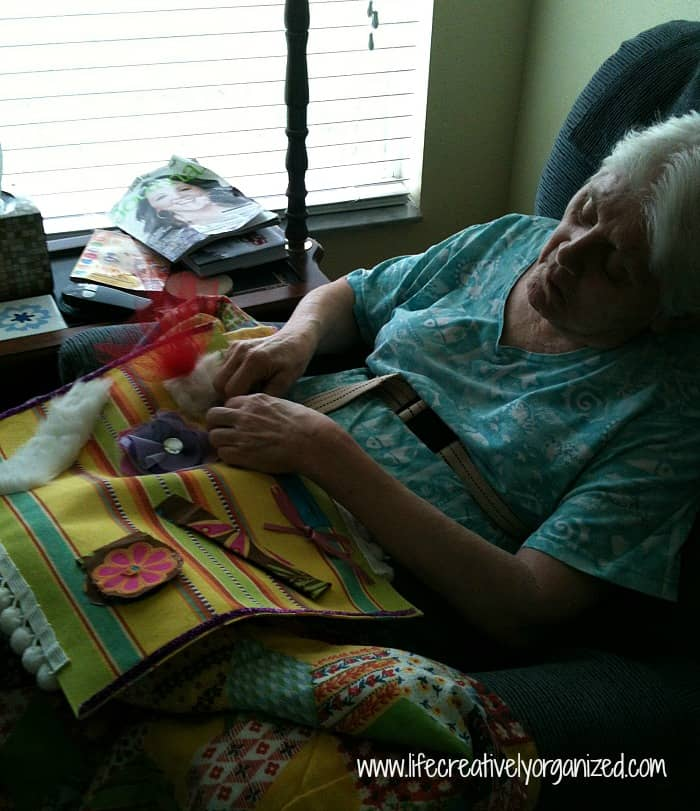 MIL using her busy mat