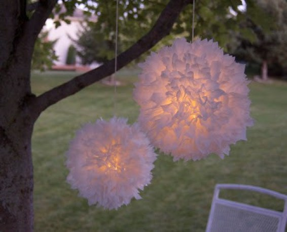 Recycle those plastic grocery bags into beautiful outdoor lights!