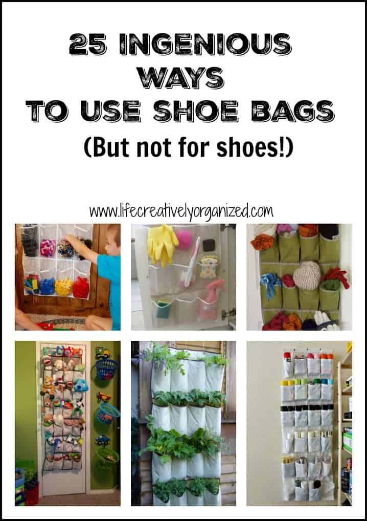 25 ingenious ways to use shoe bags (but not for shoes)!
