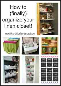 How to (finally) organize your linen closet!