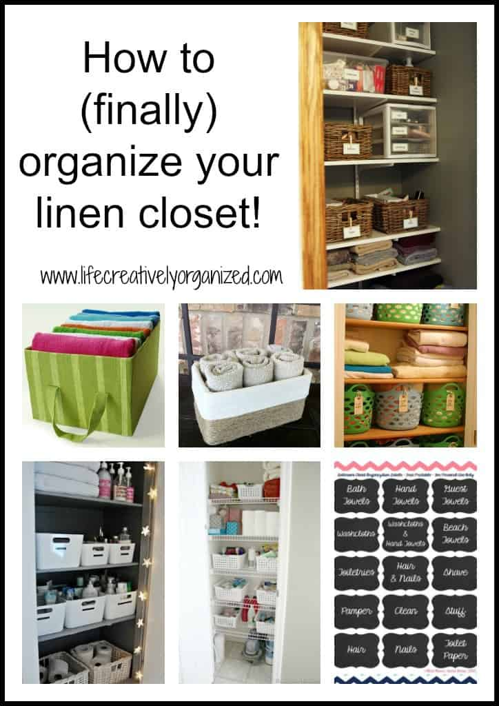 Beau How To (finally) Organize Your Linen Closet!