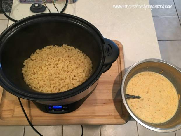 Here are two easy crock pot macaroni and cheese recipes, one regular and the other low fat. Both are gooey and flavorful with a hint of garlic, and a snap to put together. Yum!