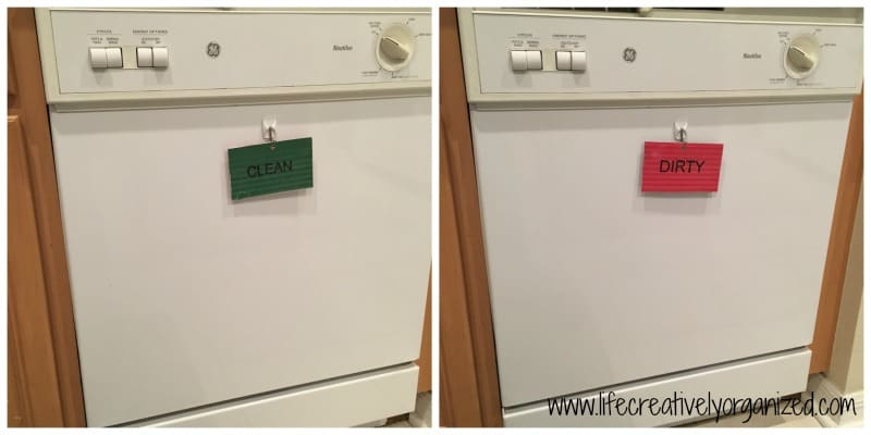 DIY dishwasher sign