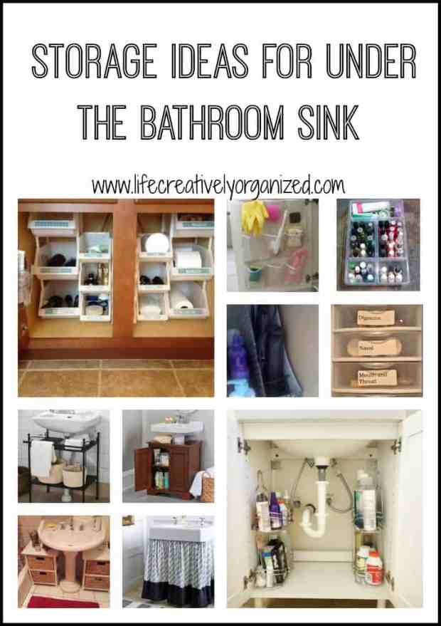 Is bathroom storage a problem with everything just stuffed under your sink haphazardly? Here are some great ways to keep it neat and organized.