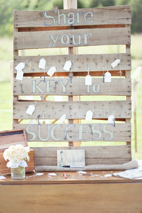 Graduation party decorations - have guests write their keys to success on the labels for the graduate.