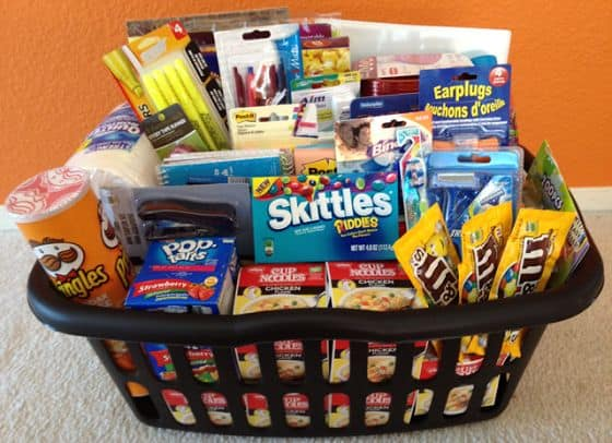 10 awesome graduation gift ideas! Make a freshman survival kit filled with goodies and toiletries.