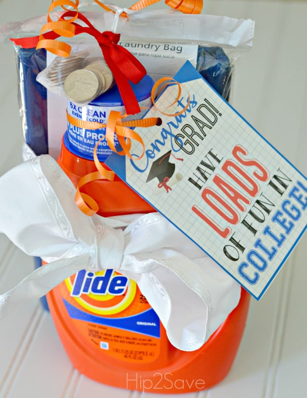 10 awesome graduation gift ideas! Make a laundry kit for the new graduate