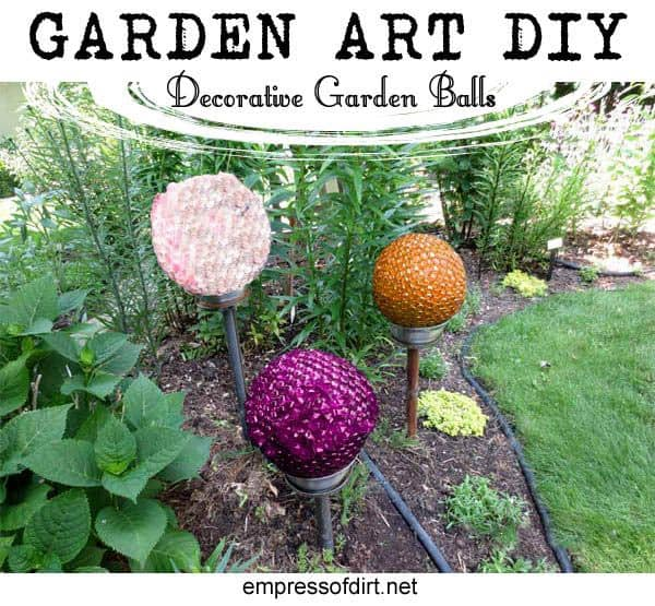Outdoor decorating - DIY garden balls