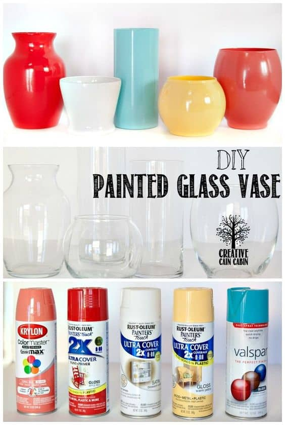 5 things to declutter in 5 minutes. Give vases a new look with spray paint.