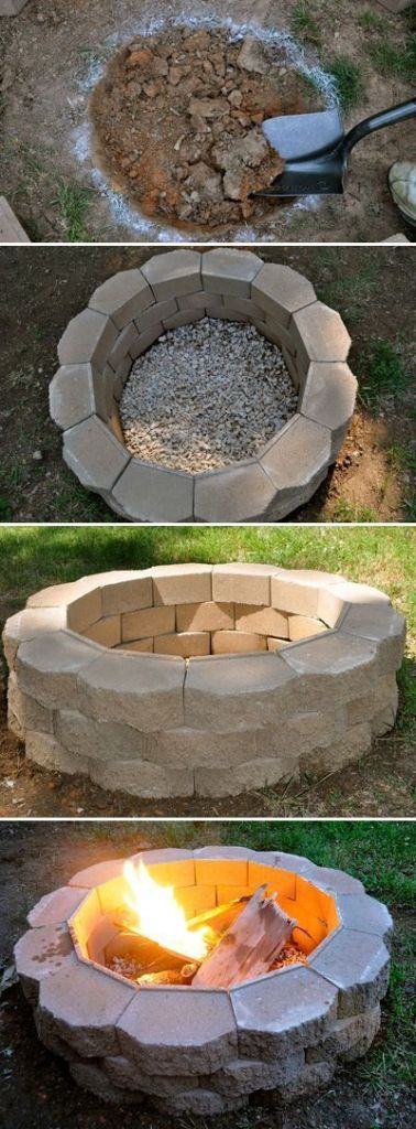 Outdoor decorating - DIY firepit