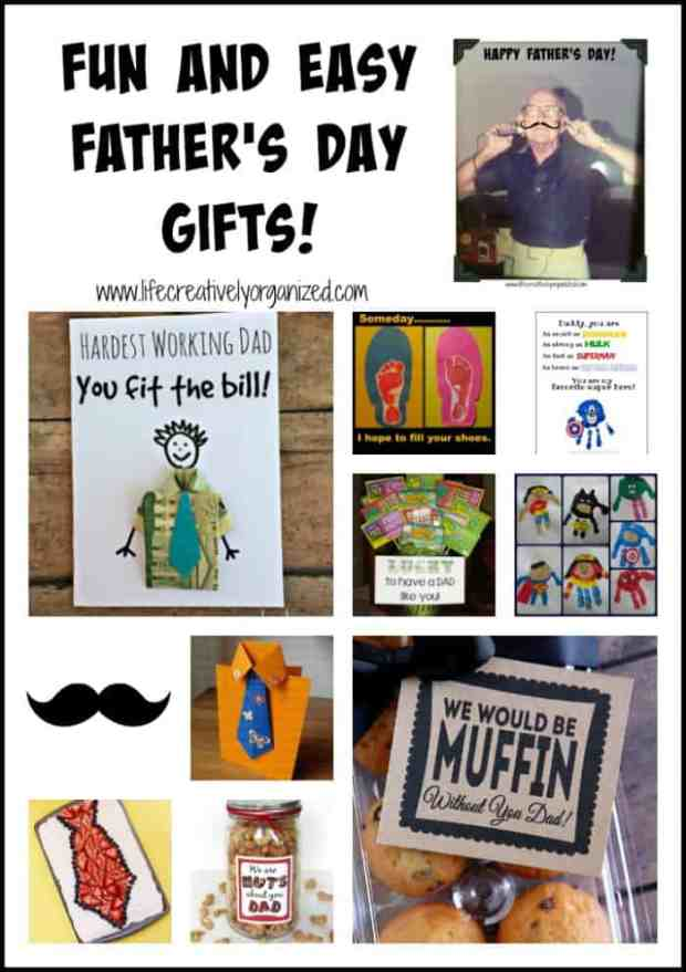 Show Dad how much you care with these fun Father's Day gift ideas that are easy for kids to make & dad will love!