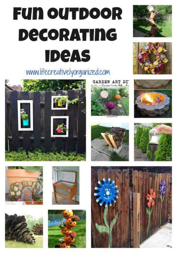 Looking for fun outdoor decorating ideas? Here are some great DIY outdoor decorating ideas, some practical and others just plain fun.