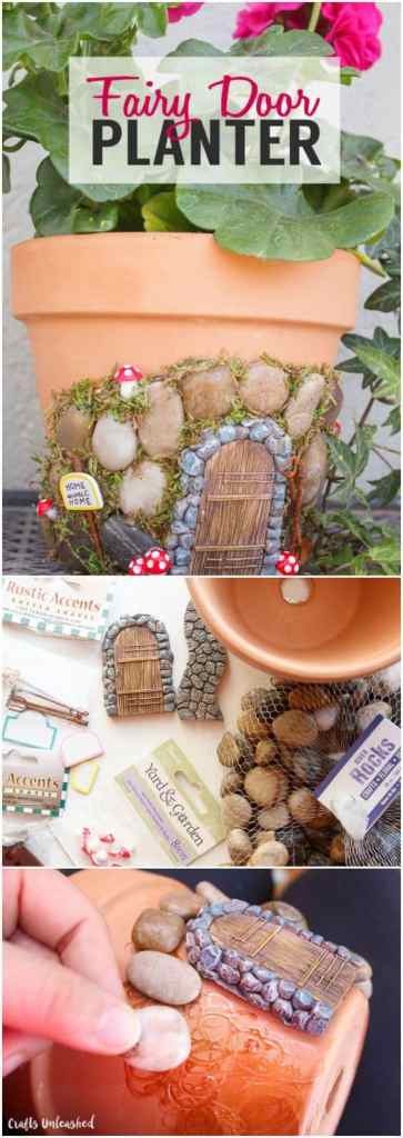Outdoor decorating - make a fairy house.