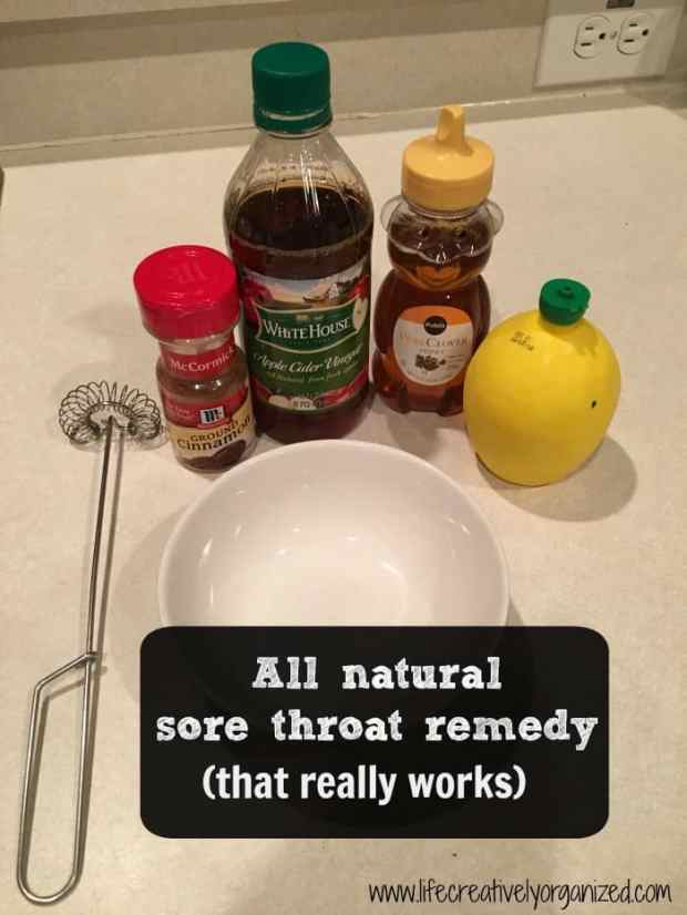 Looking for an all natural sore throat remedy that really works? I was, too. This easy recipe used ingredients I already had & I had no sore throat all day!