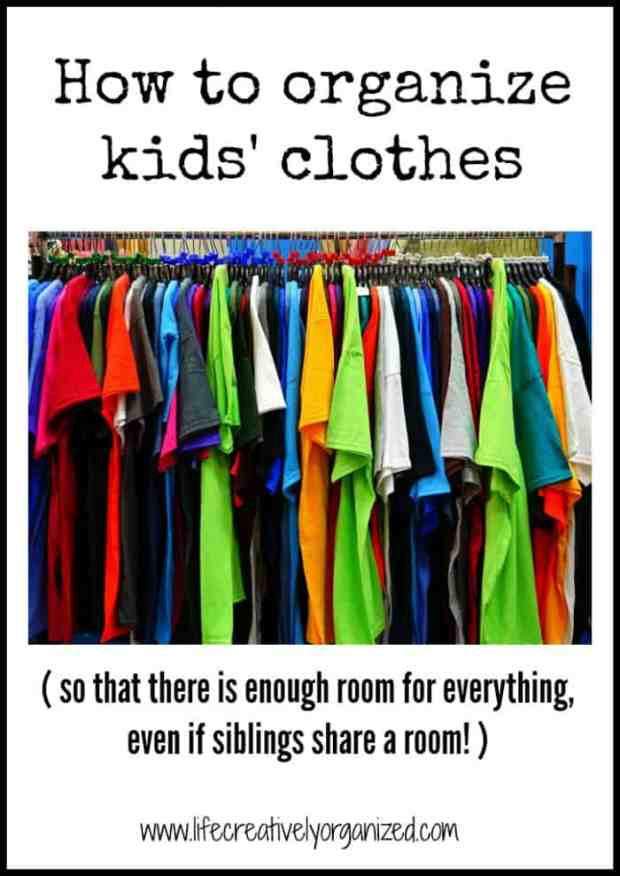 Need ways to organize kids' clothes? Tips on how to set up kids' closets & dressers so they can help put away their clothes AND get dressed in the morning.