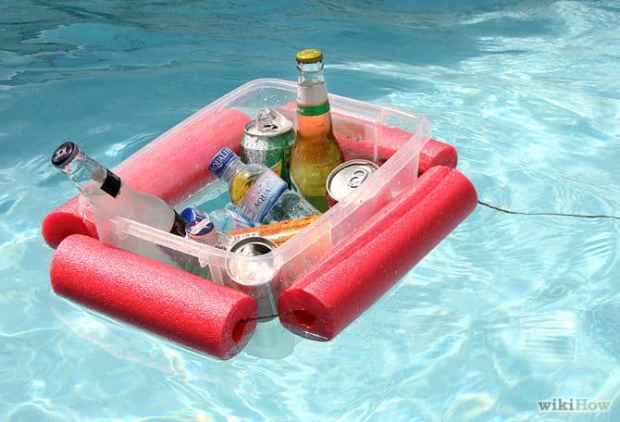 Awesome pool storage ideas - DIY floating beverage cooler
