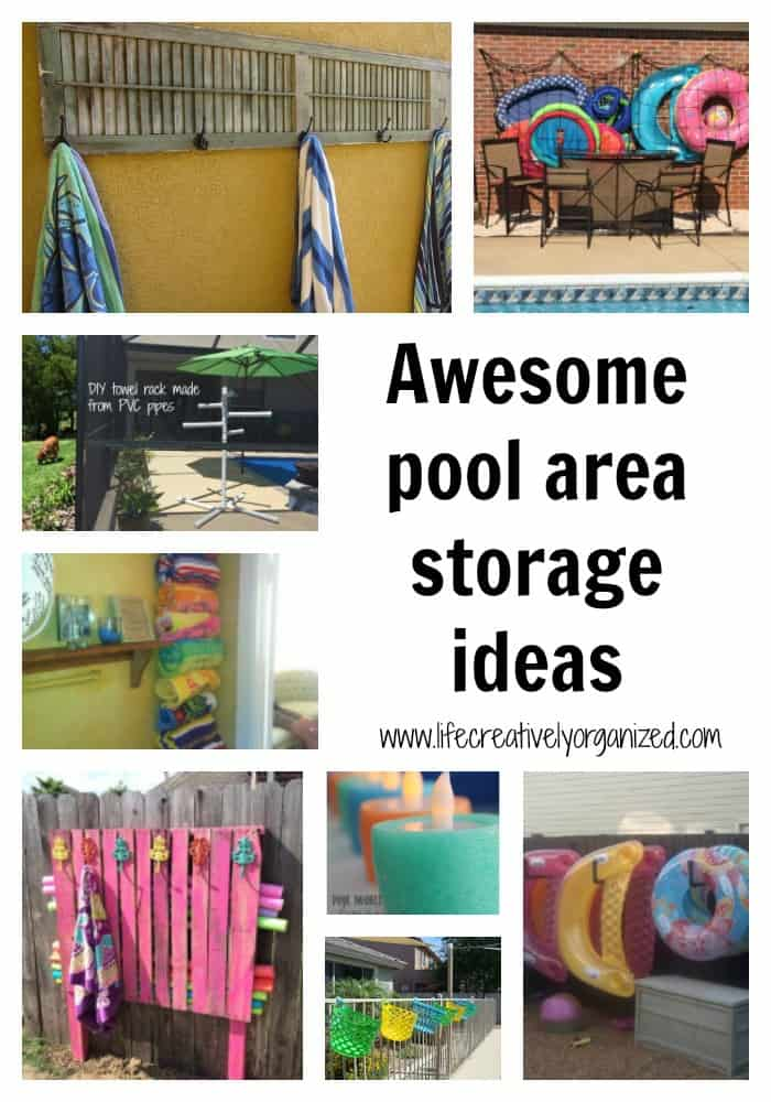 Pool Towel Rack Ideas pvc towel rack for the pool awesome towel rack that hangs on Awesome Pool Storage Ideas Life Creatively Organized